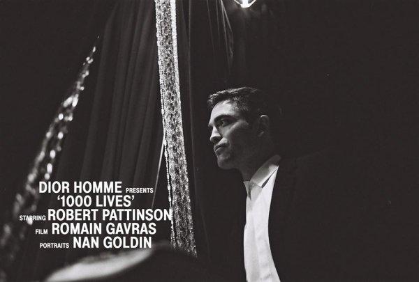Robert Pattinson pour Dior Homme.