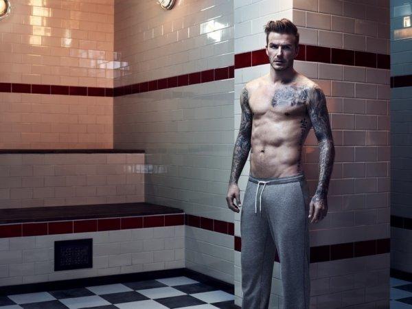 David Beckham pose pour H&M.
