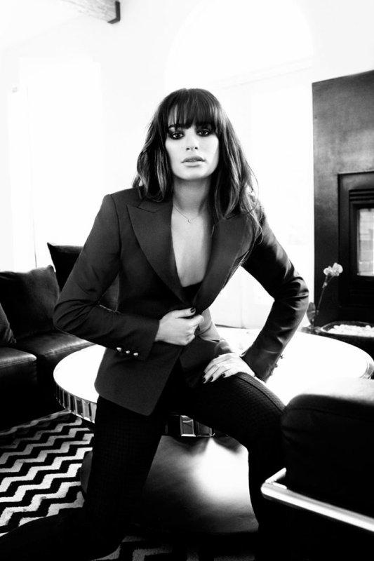 Lea Michele pose pour Marie Claire.