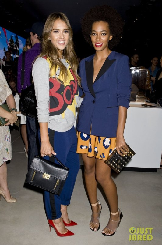 Jessica Alba et Solange Knowles à un évènement 3.1 Philip Lim. Fashion Week de New York