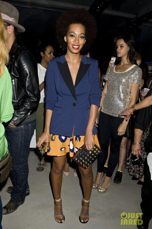 Jessica Alba et Solange Knowles à un évènement 3.1 Philip Lim. Fashion Week de New York