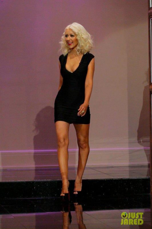 Christina Aguilera sur le plateau de Jay Leno. Burbank, Californie