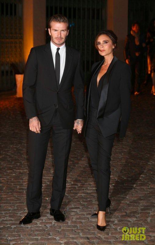 Les Beckham à un évènement. Londres
