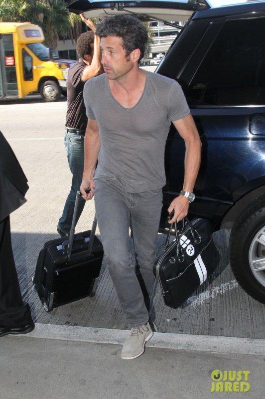 Patrick Dempsey à l'aéroport LAX. Los Angeles