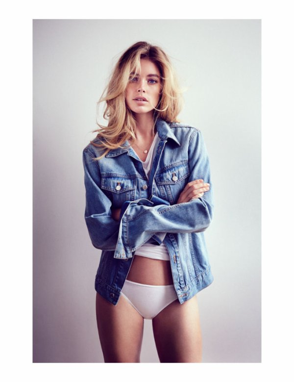 Doutzen Kroes pose pour Telegraph Fashion.