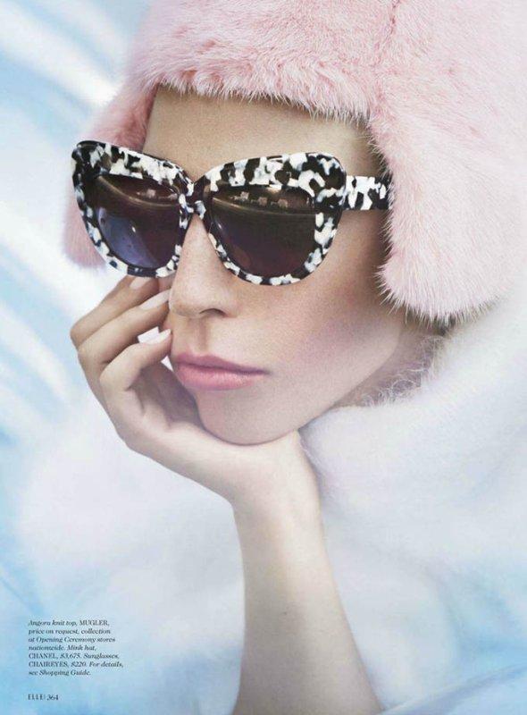 Lady Gaga pose pour ELLE.