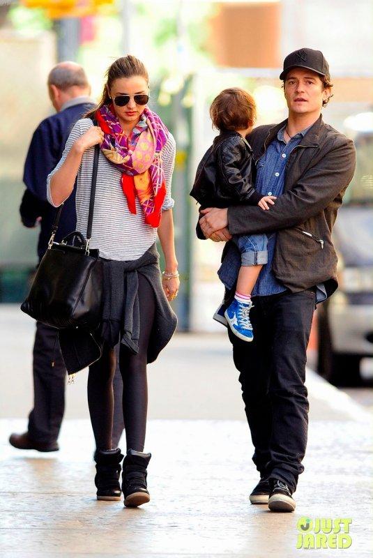 Miranda Kerr de sortie en famille. New York