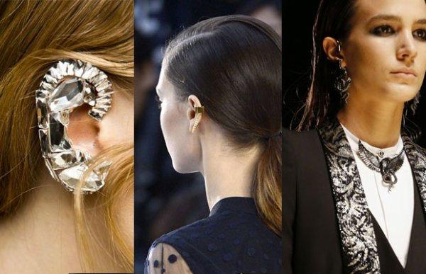 Le « ear cuff », la tendance bijou phare de l'automne/hiver 2013-2014 source : Madmoizelle.com