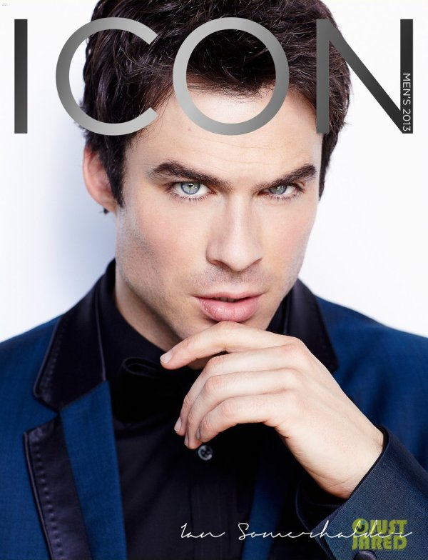 Ian Somerhalder pose pour Icon.