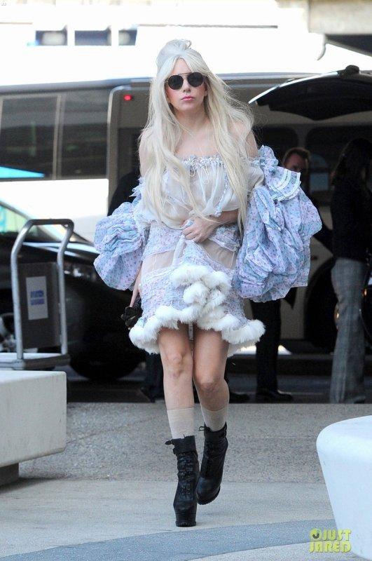 Lady Gaga à l'aéroport LAX. Los Angeles