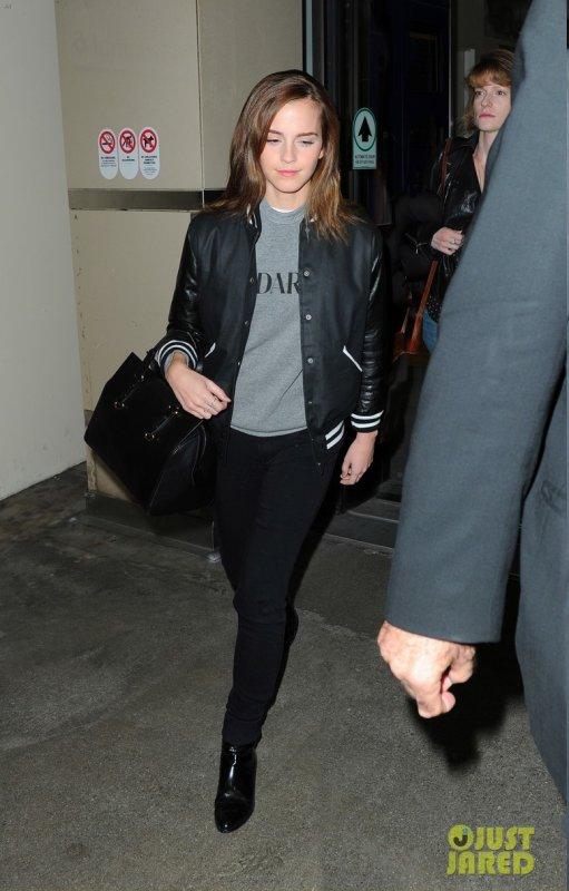 Emma Watson à l'aéroport LAX. Los Angeles