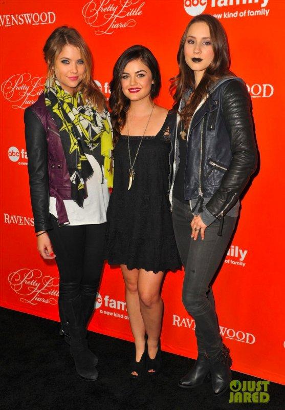 Les actrices de Pretty Little Liars à la projection de l'épisode d'Halloween. Hollywood