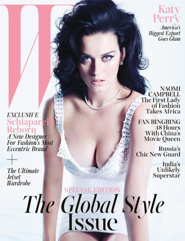 Katy Perry pose pour W.