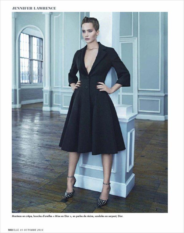 Jennifer Lawrence pose pour ELLE.