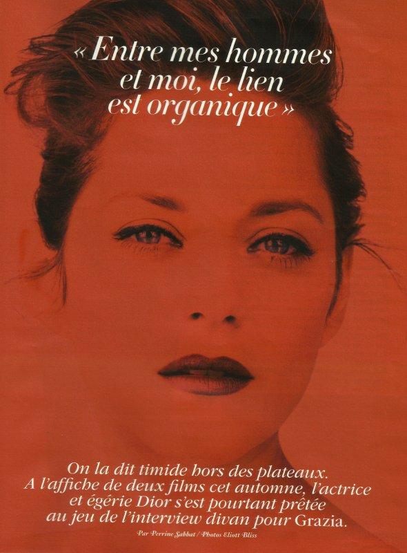 Marion Cotillard pose pour Grazia.