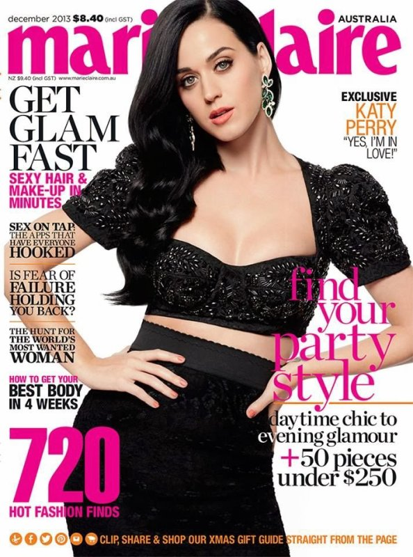 Katy Perry pose pour Marie Claire.