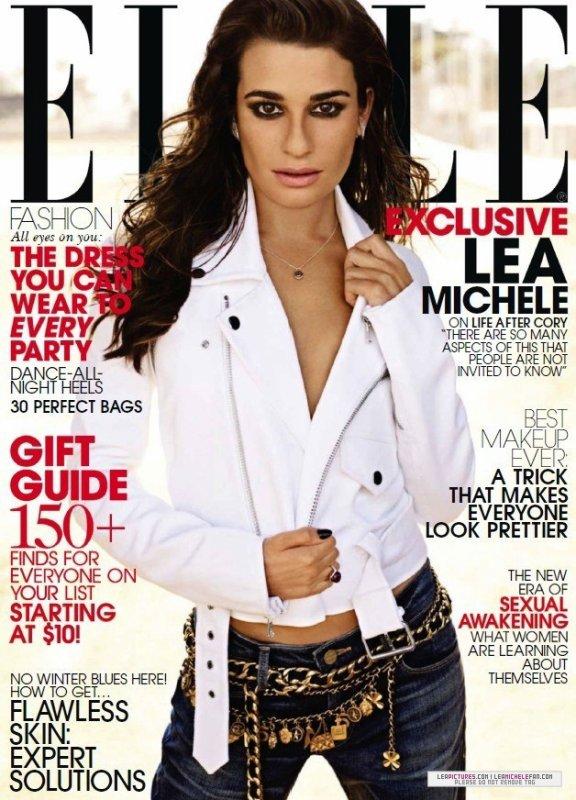 Lea Michele pose pour ELLE.