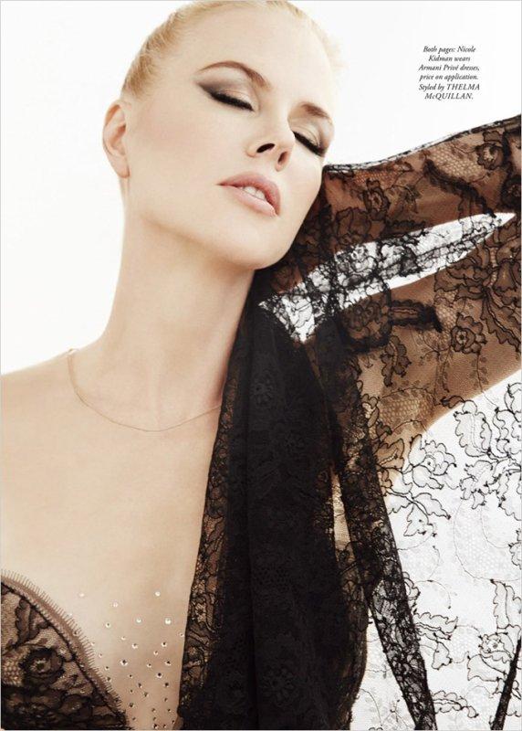 Nicole Kidman pose pour Harper's Bazaar.