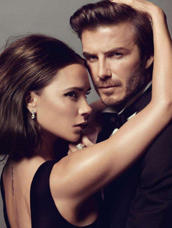 Les Beckham posent pour Vogue.