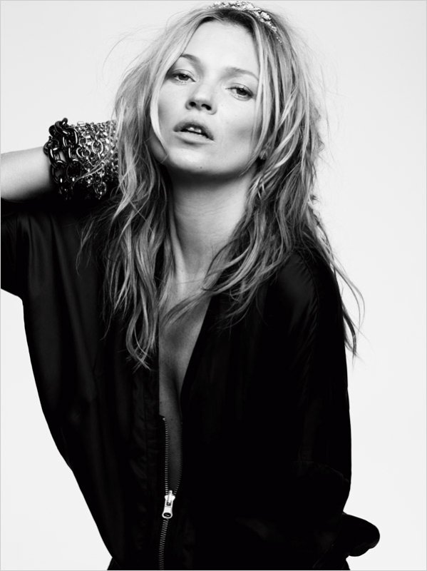 Kate Moss pose pour Eleven Paris. printemps / été 2014