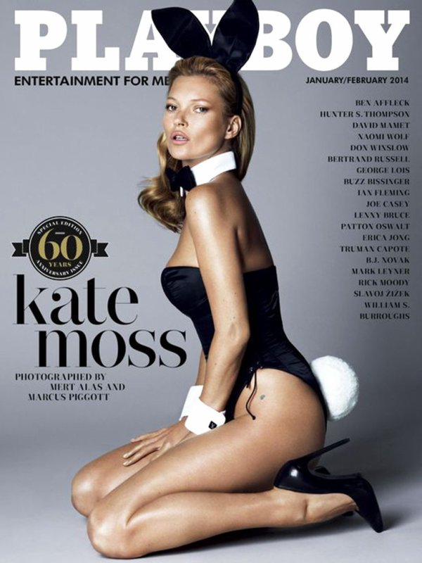 Kate Moss pose pour Playboy.