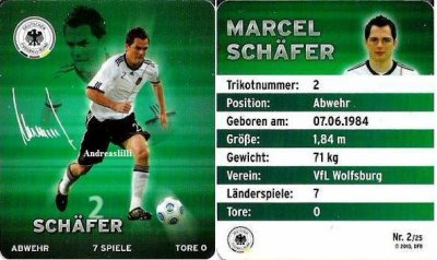 Plaste football cartes 2010 - au niveau national onze Allemagnes  - Nr. 2