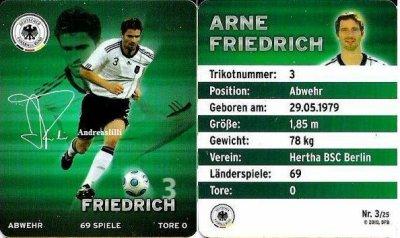 Plaste football cartes 2010 - au niveau national onze Allemagnes - Nr. 3