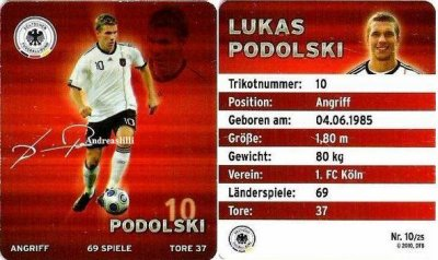 Plaste football cartes 2010 - au niveau national onze Allemagnes - Nr.10