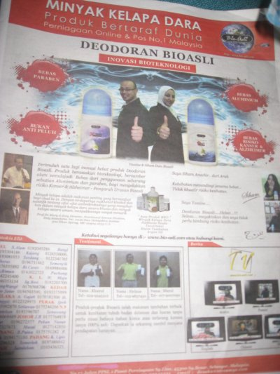 me in malaysia news paper (kosmo) BIOASLI PUB