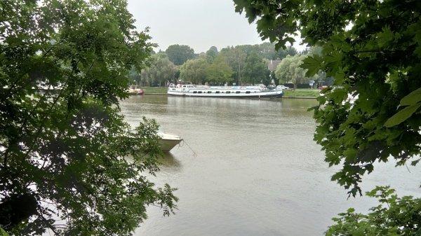 Ile sur la Seine, quelques sculptures contemporaines.