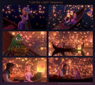 Une jolie petite fille est née, une princesse, vous l'avez devinez, c'est Raiponce ...