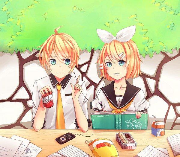 je laisse Rin bosser moi je mange xDD