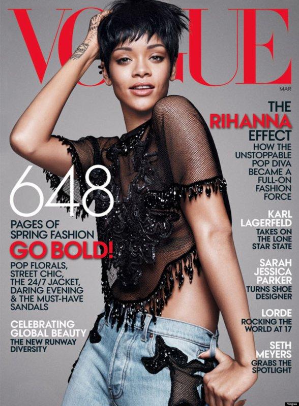 """Rihanna fait encore la couverture du Magazine """"VOGUE"""""""