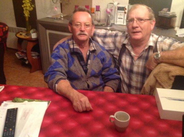 mon père avec mon mari!!!!