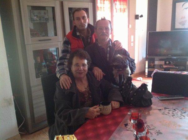 Mes parents avec mon frère Sèbastien,!!!!!