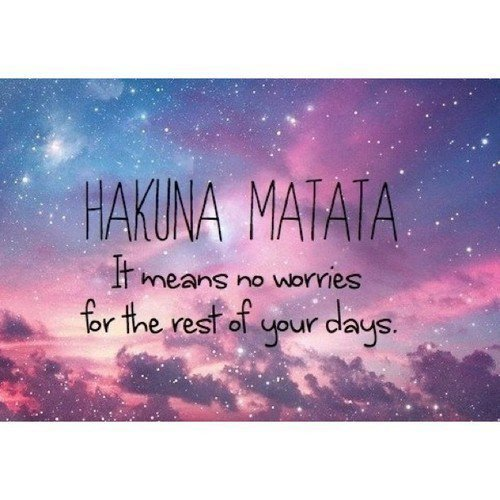 Le secret de la vie HAKUNA MATATA