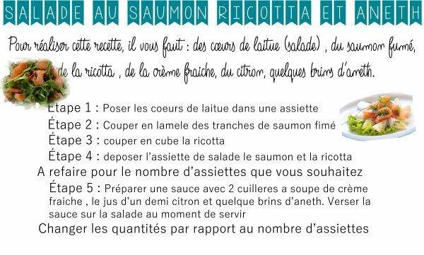 Salade saumon 💙