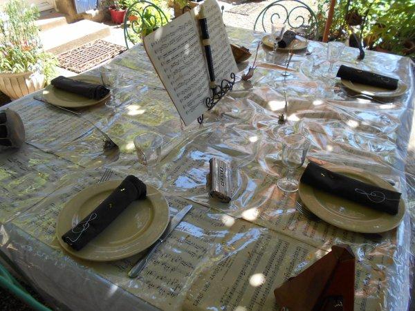 Décoration de table musique