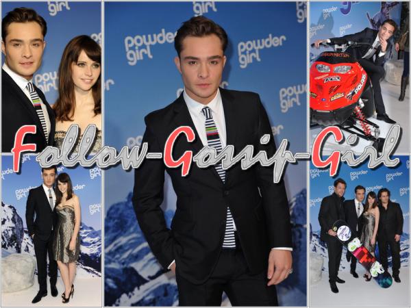 """March 4th - """"Chalet Girl"""" German Premiere Mais quelle est donc cette horrible cravate ?"""