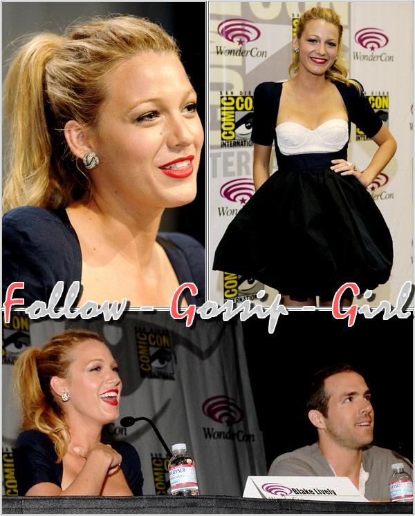 April 1st – WonderCon 2011 : Day 1 En s'affichant dans cette tenue avec Ryan Reynolds, Blake est IN alors que Scarlett est totallement OUT !