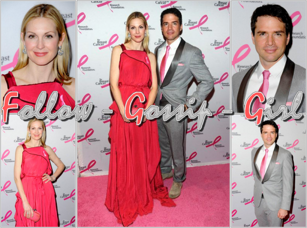 April 14th – 2011 Breast Cancer Research Foundation's Hot Pink Party En s'assortissant, Kelly et Matthew sont au TOP ...