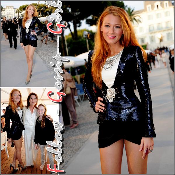 May 9th – Chanel Collection Croisiere Show in Cap d'Antibes Blake semble être la seule a pouvoir porter une tenue aussi courte tout en paraissant classe, c'est un TOP mademoiselle !