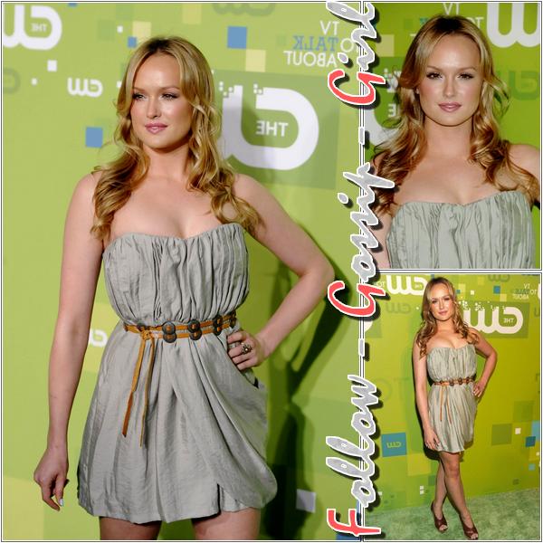 May 19th – 2011 The CW Network UpFront En misant sur la sobriété de sa robe - bustier parfaitement adaptée à sa morphologie, Kaylee décroche un TOP