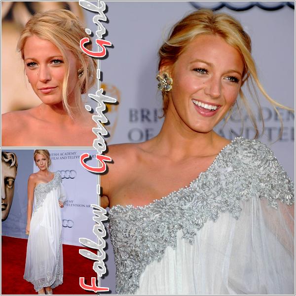 July 9th – 2011 BAFTA Brits To Watch Event Si Ed avait, comme a son habitude, un look de gentleman, Blake attirait les regards dans sa sublime robe asymétrique : au TOP ..!