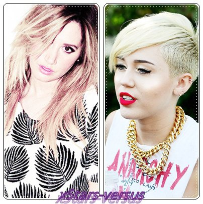 Ashley Tisdale VS Miley Cyrus