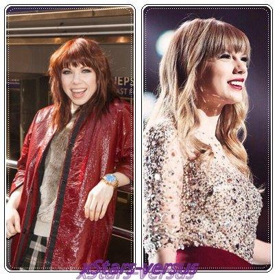 Carly Rae Jepsen  VS  Taylor Swift