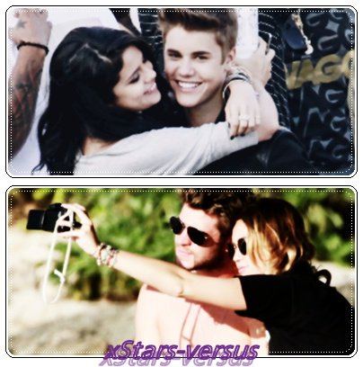 Selena Gomez&Justin Bieber VS Miley Cyrus&Liam Hemsworth
