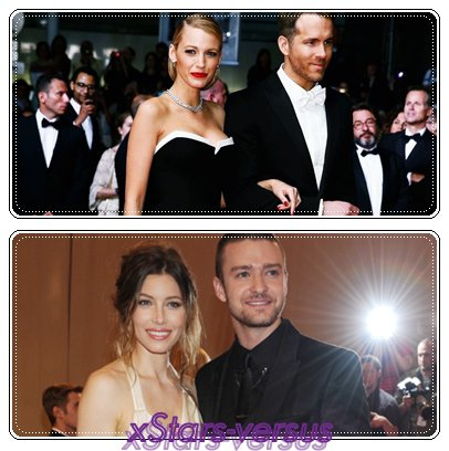 Blake Lively&Ryan Reynolds  VS  Jessica Biel&Justin Timberlake