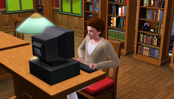 2 - Une glace et la bibliothèque