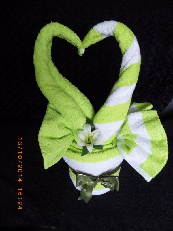 coeur de cygne vert anis